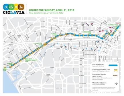 CicLAvia map 2013.