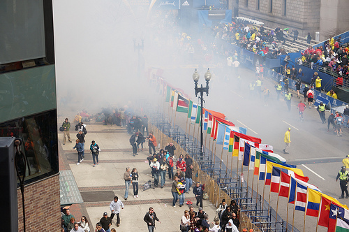 Boston Marathon bomging. Photo by hahatango via flickr