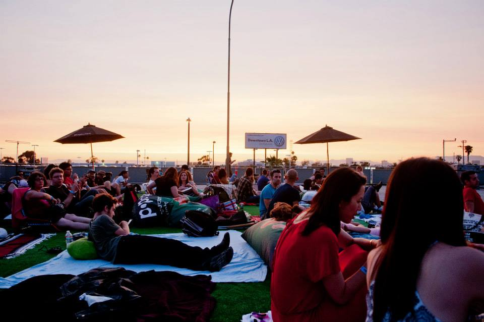 Warm summer evening and an outdoor movie. Photo from Eat|See|Hear Official Facebook