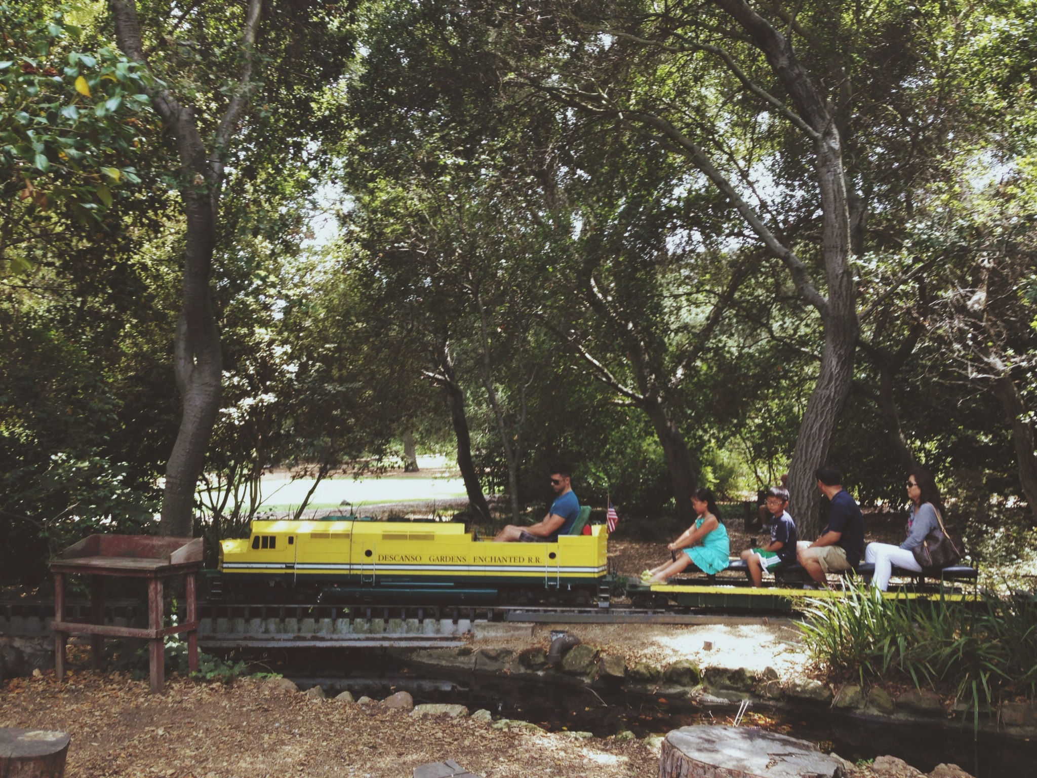 ART OF TRANSIT: Visitors take a ride at Descano Gardens in La Canada-Flintridge on Saturday. Photo by Steve Hymon/Metro.