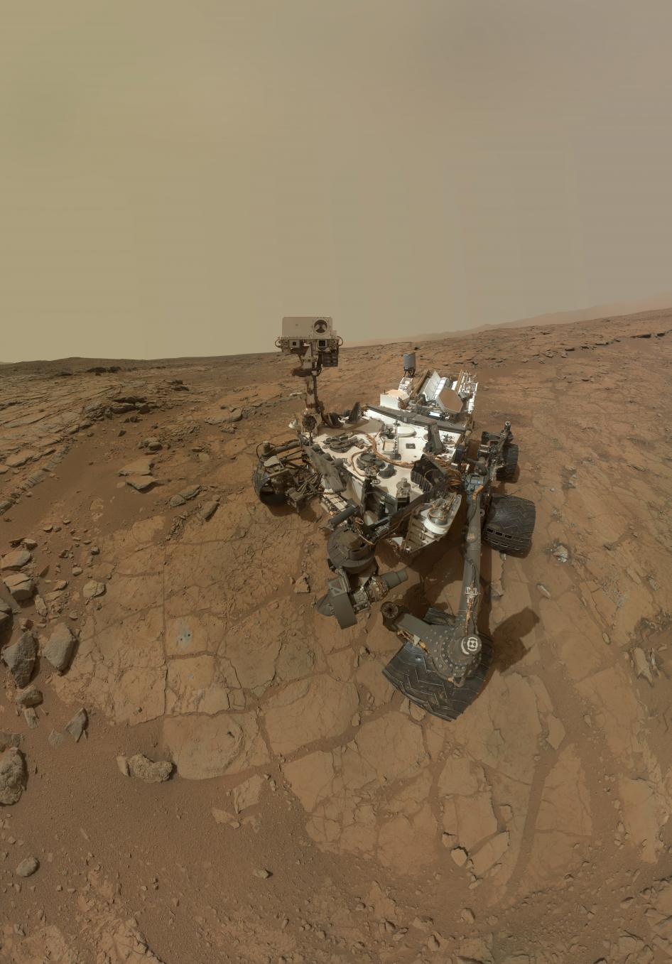 ART OF TRANSIT: Happy one-year Earth time anniversary on Mars, Curiosity Rover. Photo by NASA.