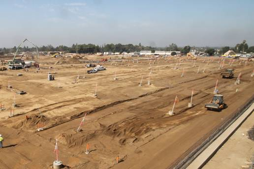 The site of the new operations campus in Monrovia. Photo: Metro Gold Line Foothill Extension Construction Authority.