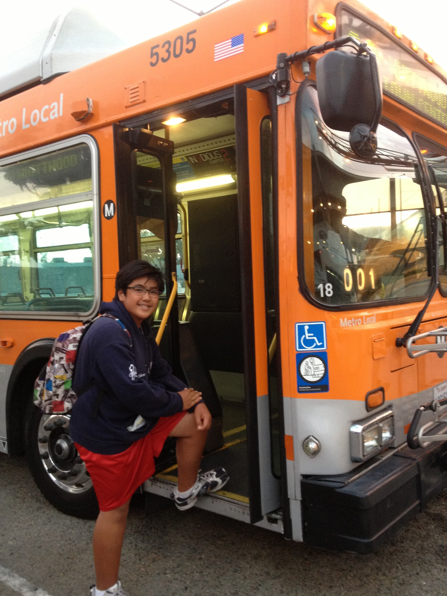 JP is one of many students who rely on Metro to travel to school and around the region. Photos by Cris Liban/Metro.