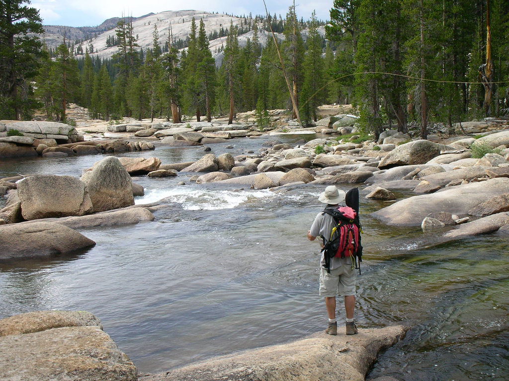 Shrinking glaciers could mean less water for fish and people in the Tuolumne River in Yosemite. Photo courtesy Julie Sheer.