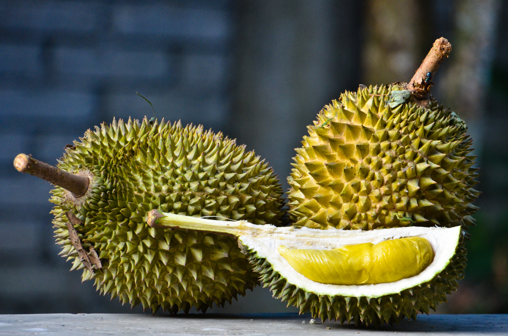 I'll eat a lot of things, but not durian - blech! Are you brave enough to try? Test your taste bud mettle at the South Pasadena Moon Festival. Photo: Dr.13 (www.lensa13.com) via Flickr Creative Commons