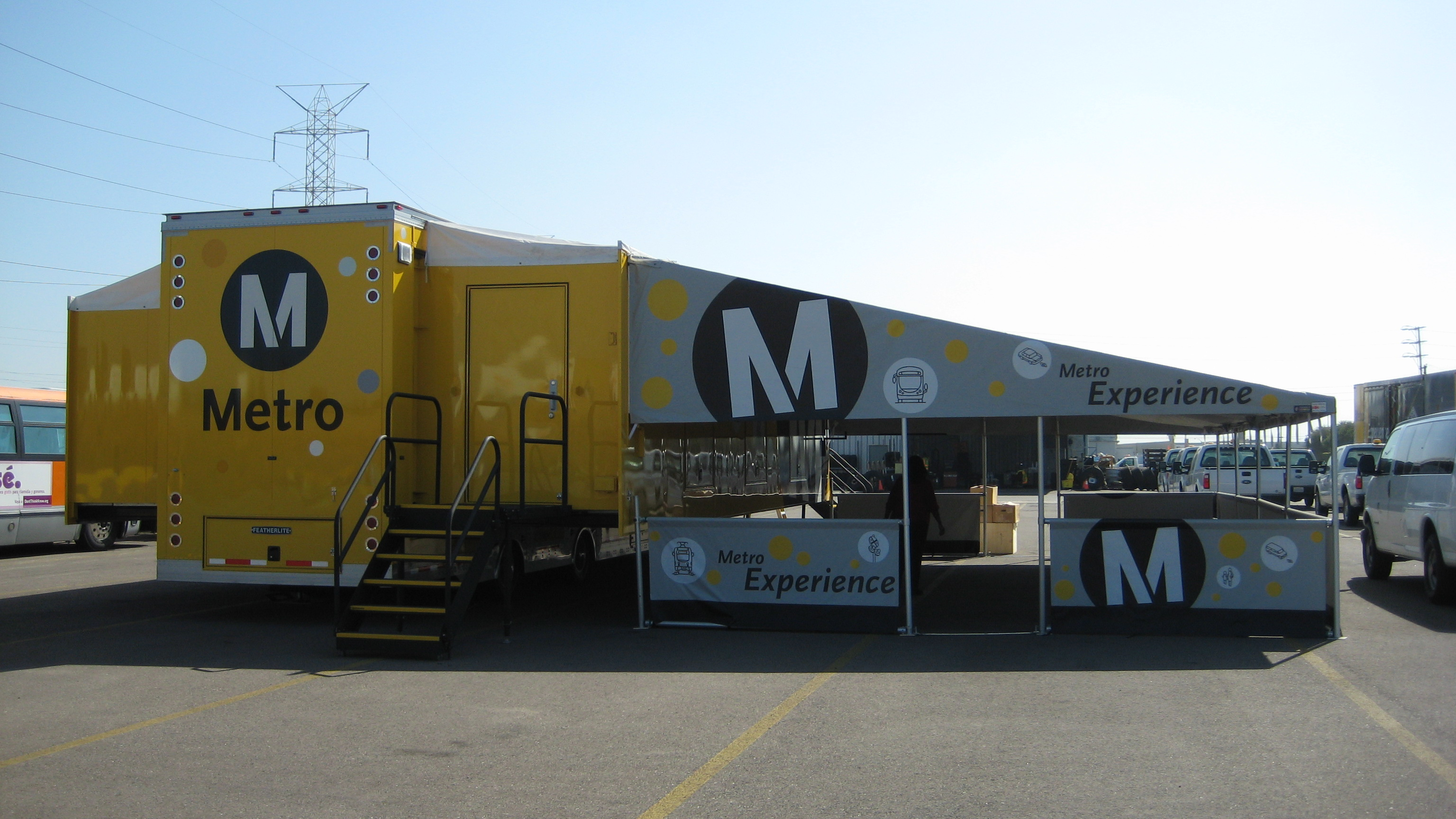 The Metro Experience, a mobile theatre, will be screening community videos.