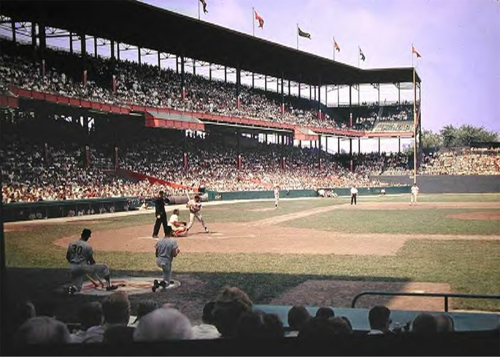 Check it out: Sportsman's Park, the ballpark where the Cardinals played until the end of the '65 season. Source: Wikipedia.