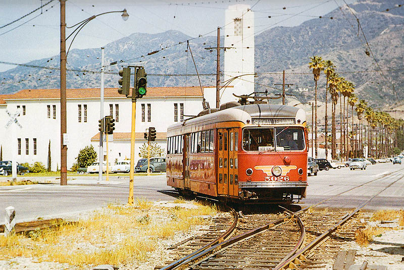 PE_#5025_Glenoaks_BL_&_Brand_BL_bound_for_LA_Apr_12_1955