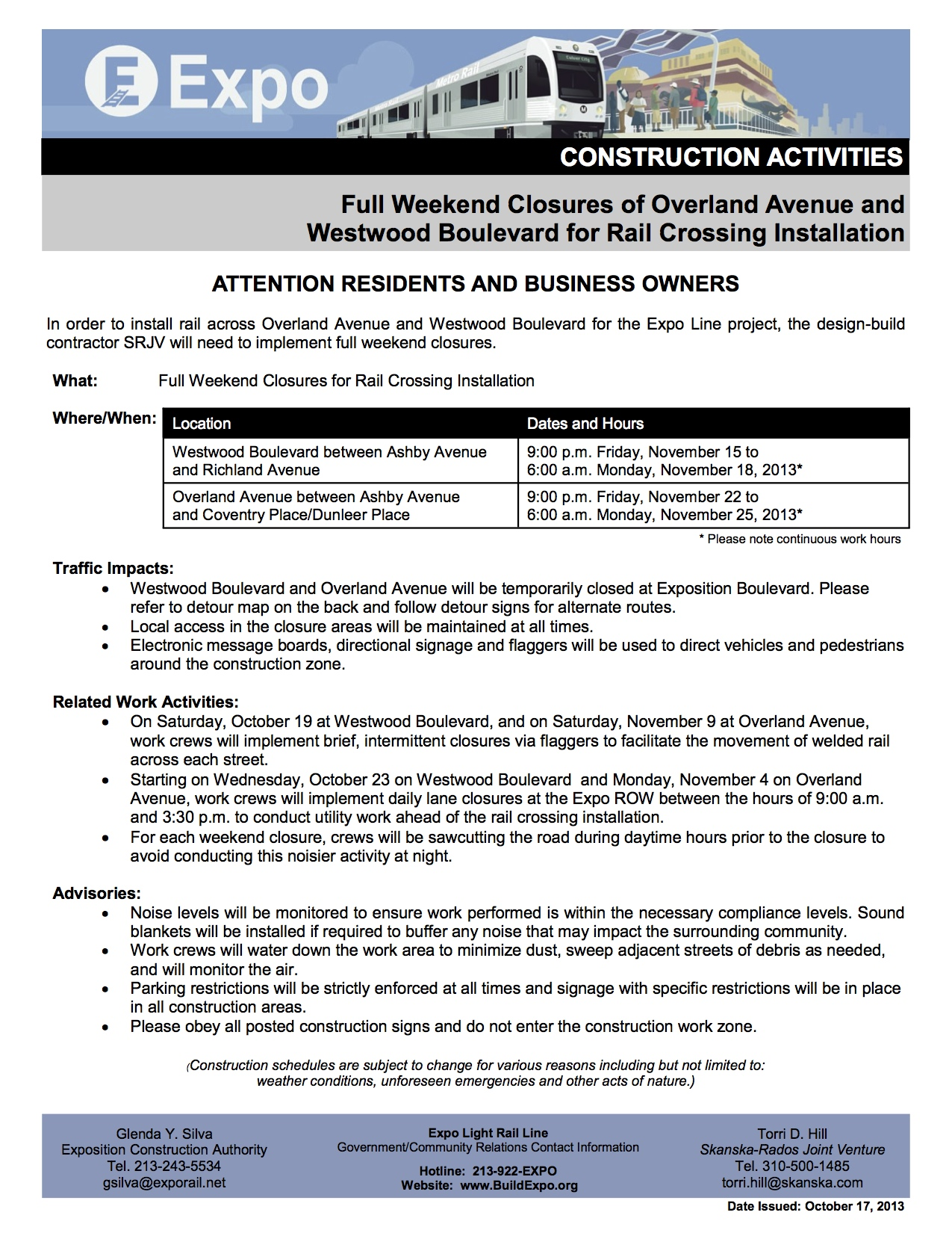 101813-EXPO-P2-CONSTRUCTION-NOTICE-Track-Installation-for-Westwood-and-Overland3