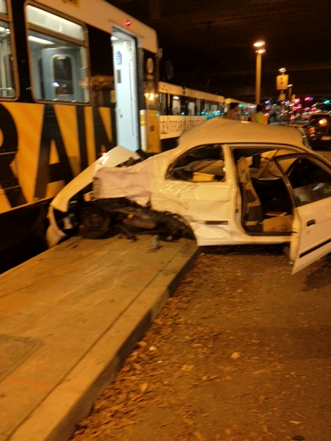 Preliminary reports indicate the incident car made an illegal left turn into the Metro train