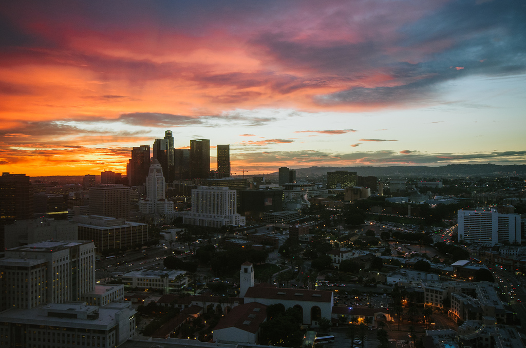A lovely November evening as seen from the Metro mothership. Photo by Steve Hymon/Metro.