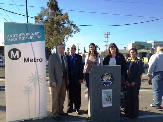 From this afternoon's ribbon cutting. Photo: Metro