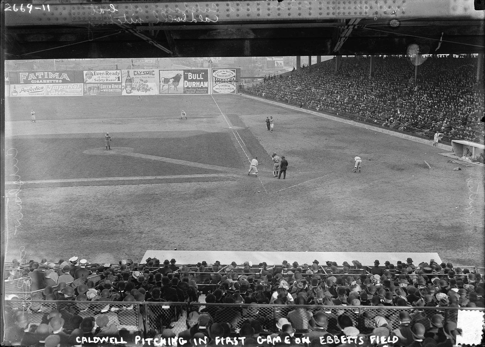 Happy REAL opening day, baseball fans and Metro Riders. Above, the first game at Ebbetts Field.