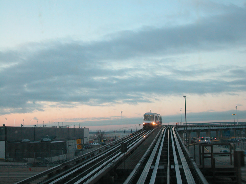 The people mover at O'Hare Airport in Chicago. Photo by David Wilson, via Flickr creative commons.