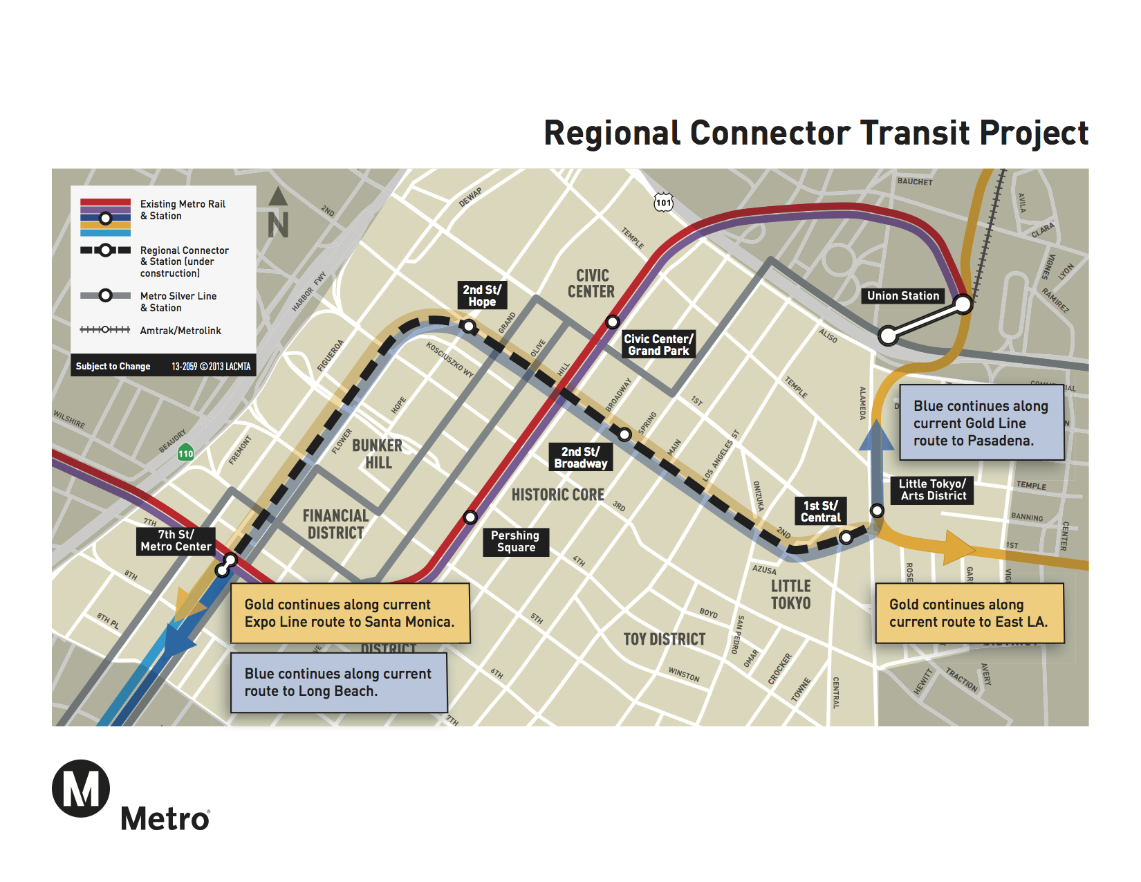 Metro Board Approves Million Contract For Construction Of - Los angeles metro expansion map