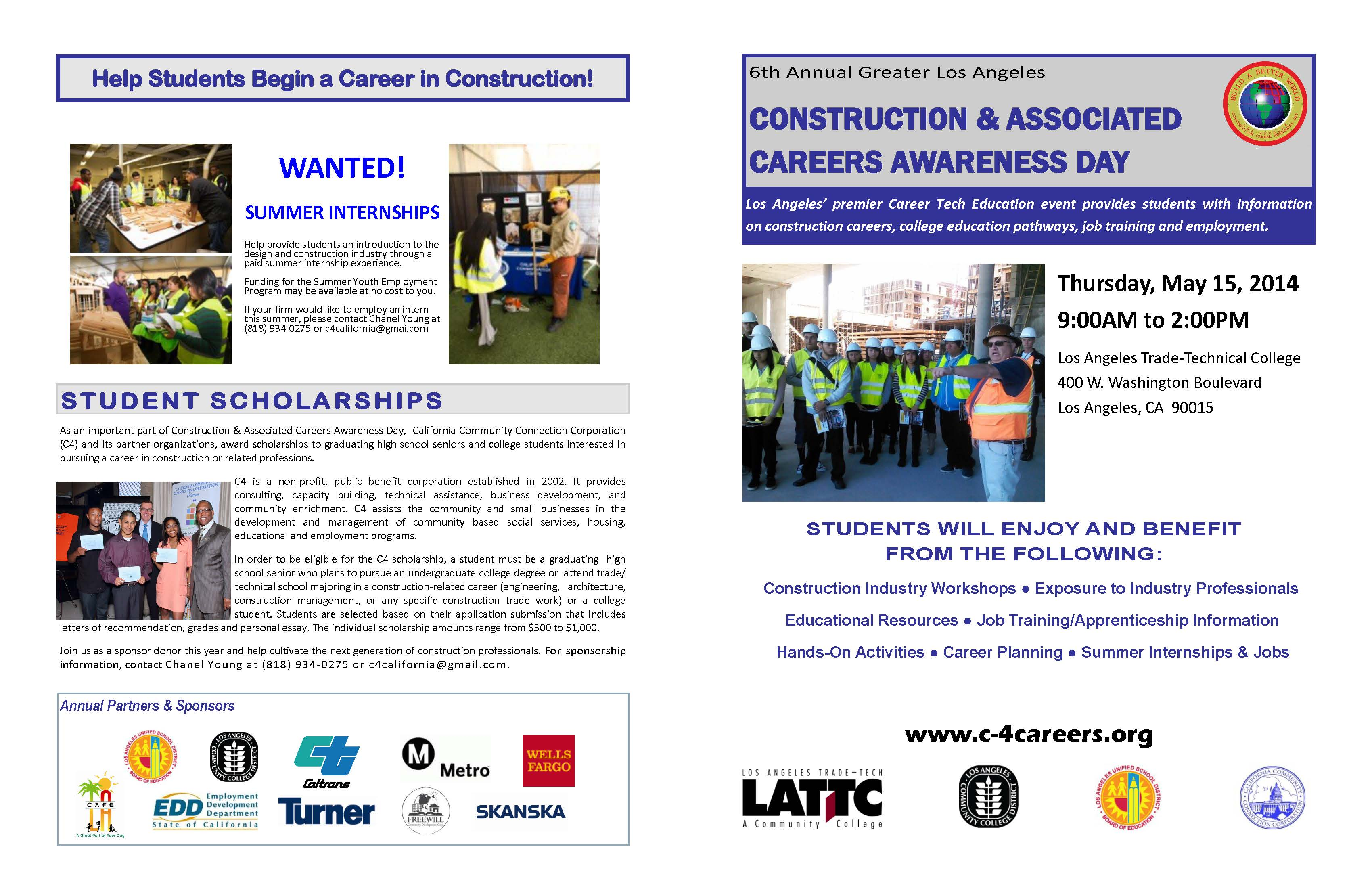 metro to participate at construction careers awareness day at l a ccad brochure 15 2014 page 1
