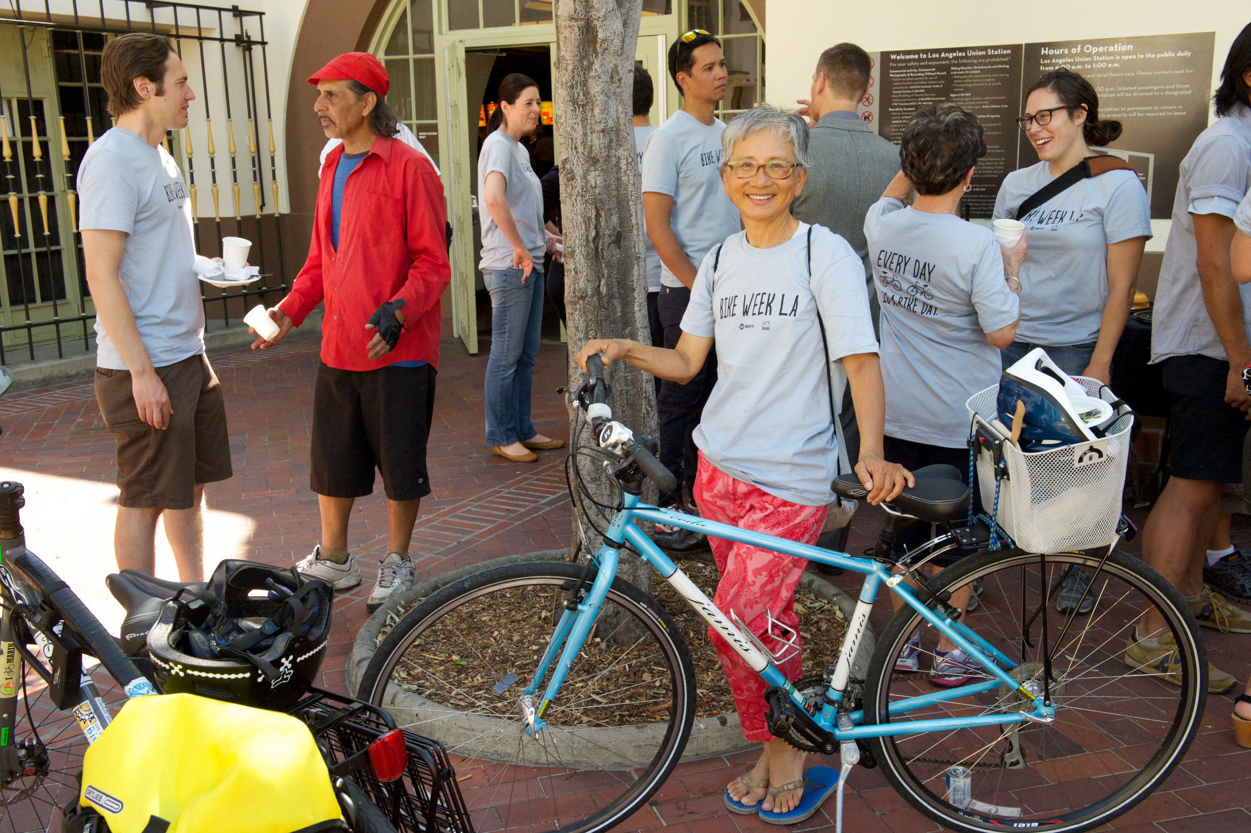 Swee, after finishing Bike Week LA's Guided Ride between Downtown LA and Boyle Heights.