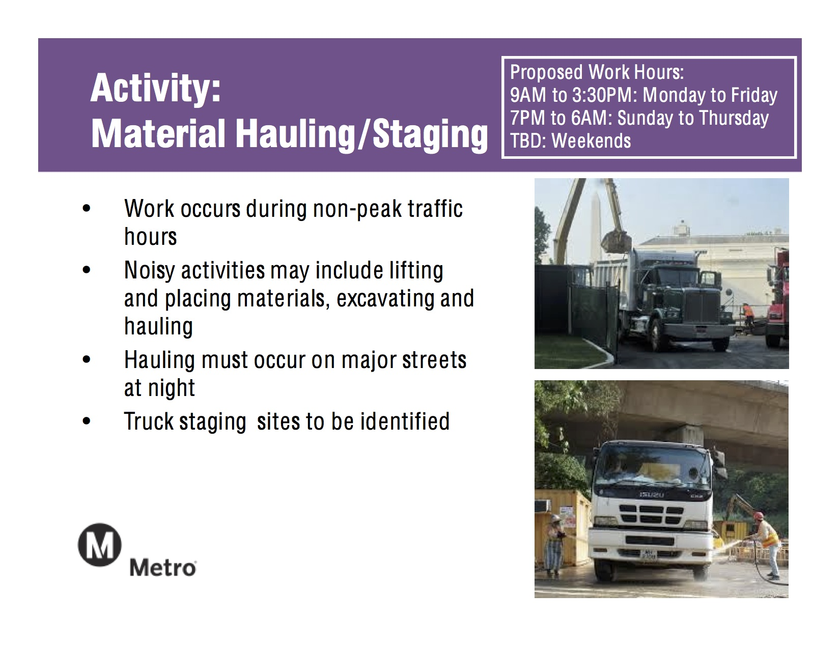 Hauling:Staging
