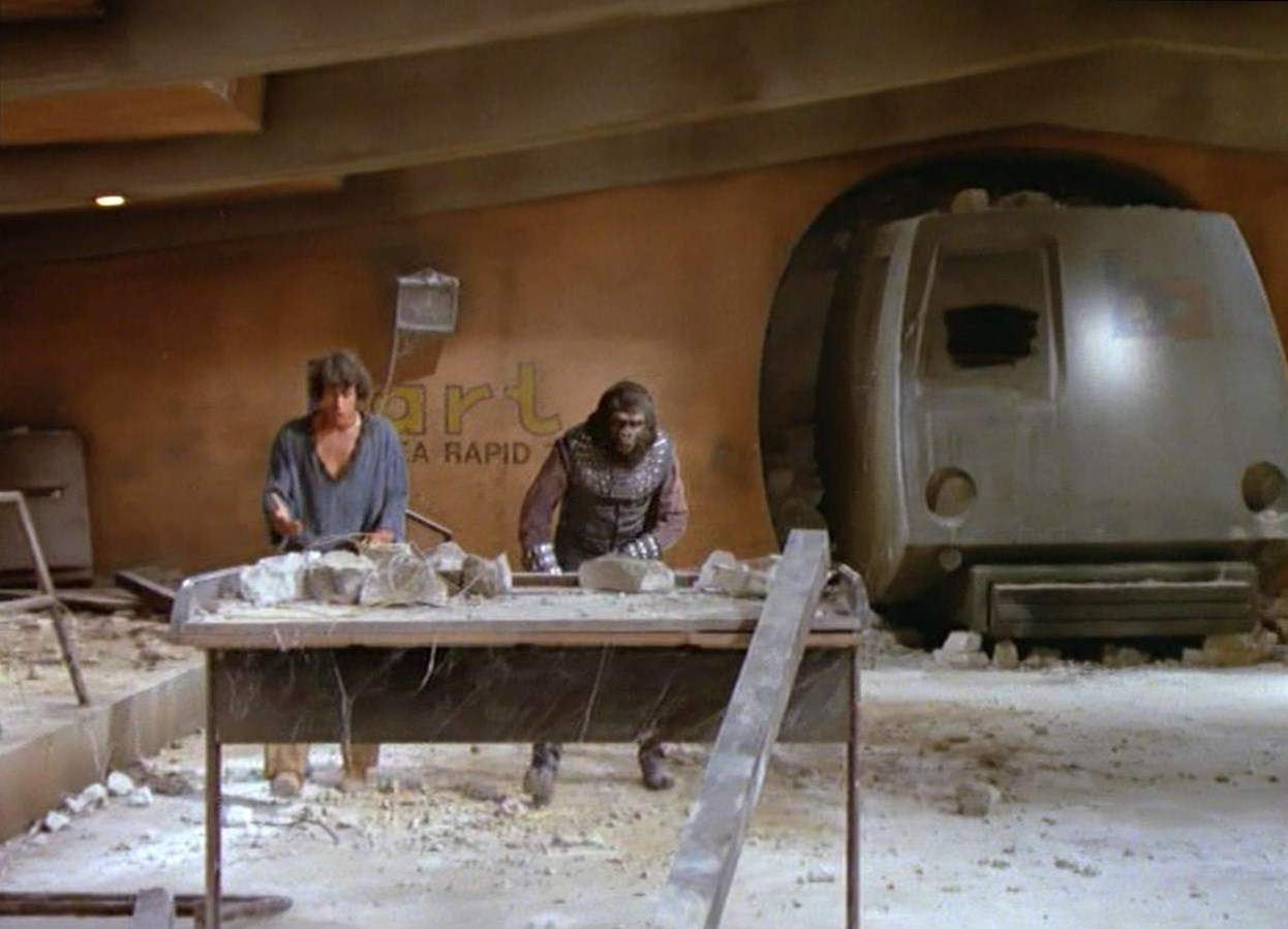 ART OF TRANSIT 2: There are many reasons why a train may go out of service, including the planet being taken over by apes. Credit: 20th Century Fox.