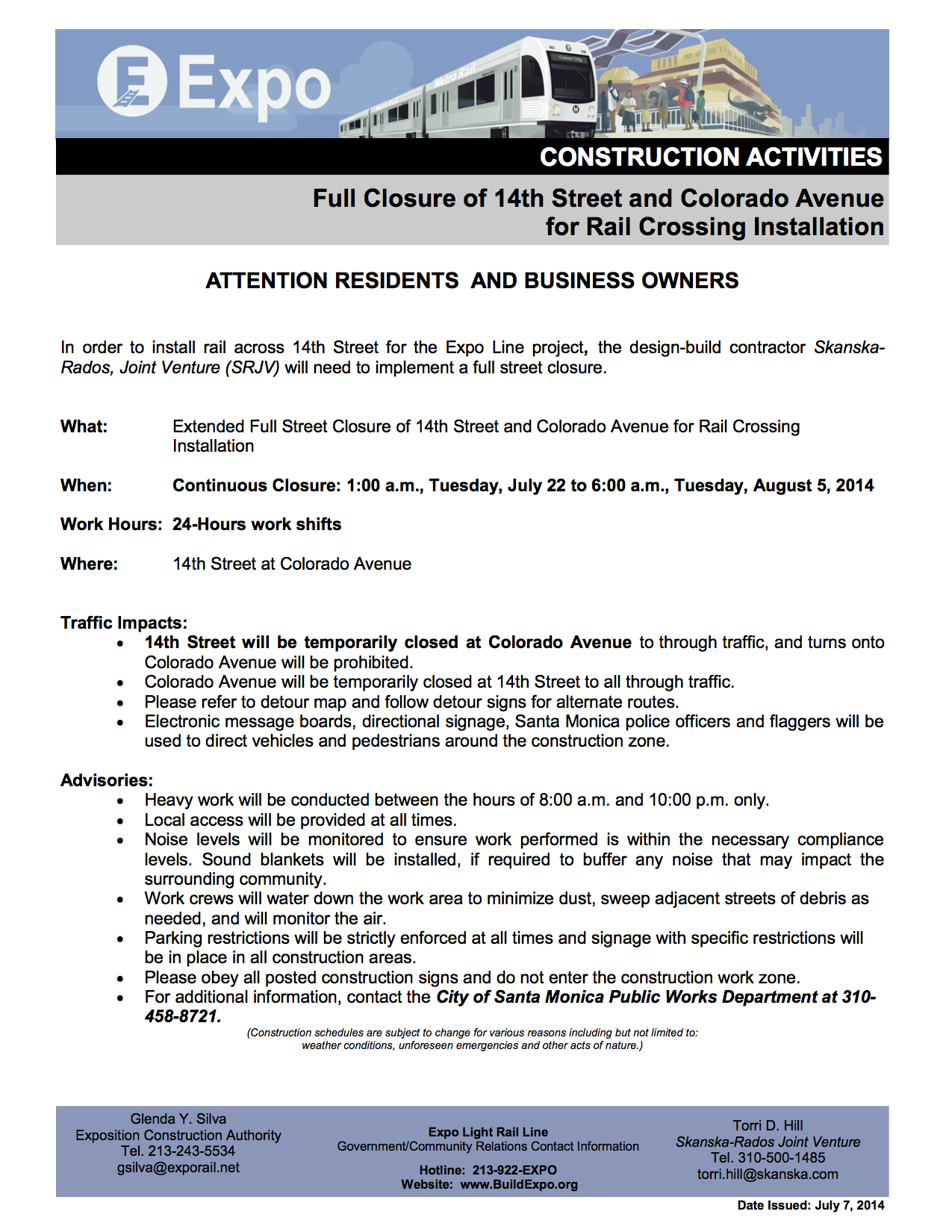 070714-EXPO-P2-CONSTRUCTION-NOTICE-Track-Installation-14th-Street-