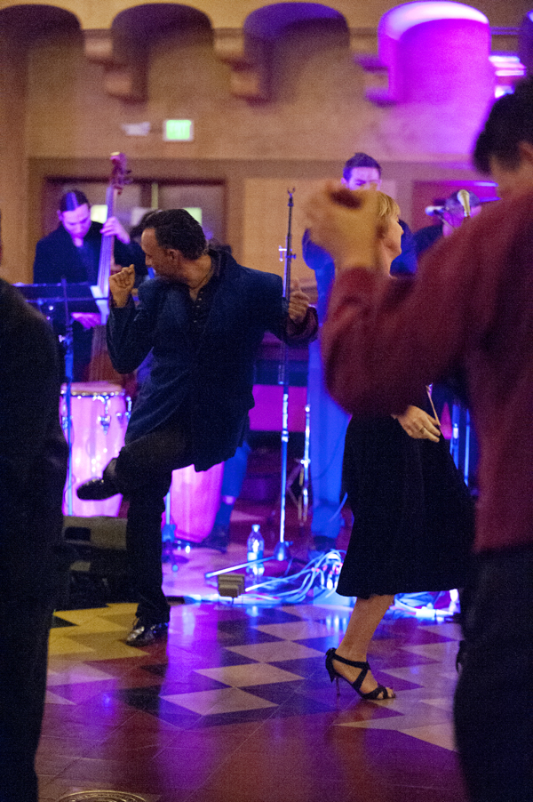 Dancers got down to classic salsa performed by LA Picante