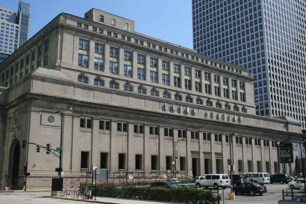 Chicago's Union Station is a little more workmanlike than Union Station here in L.A. Photo by Jeramey Jannene, via Flickr creative commons.