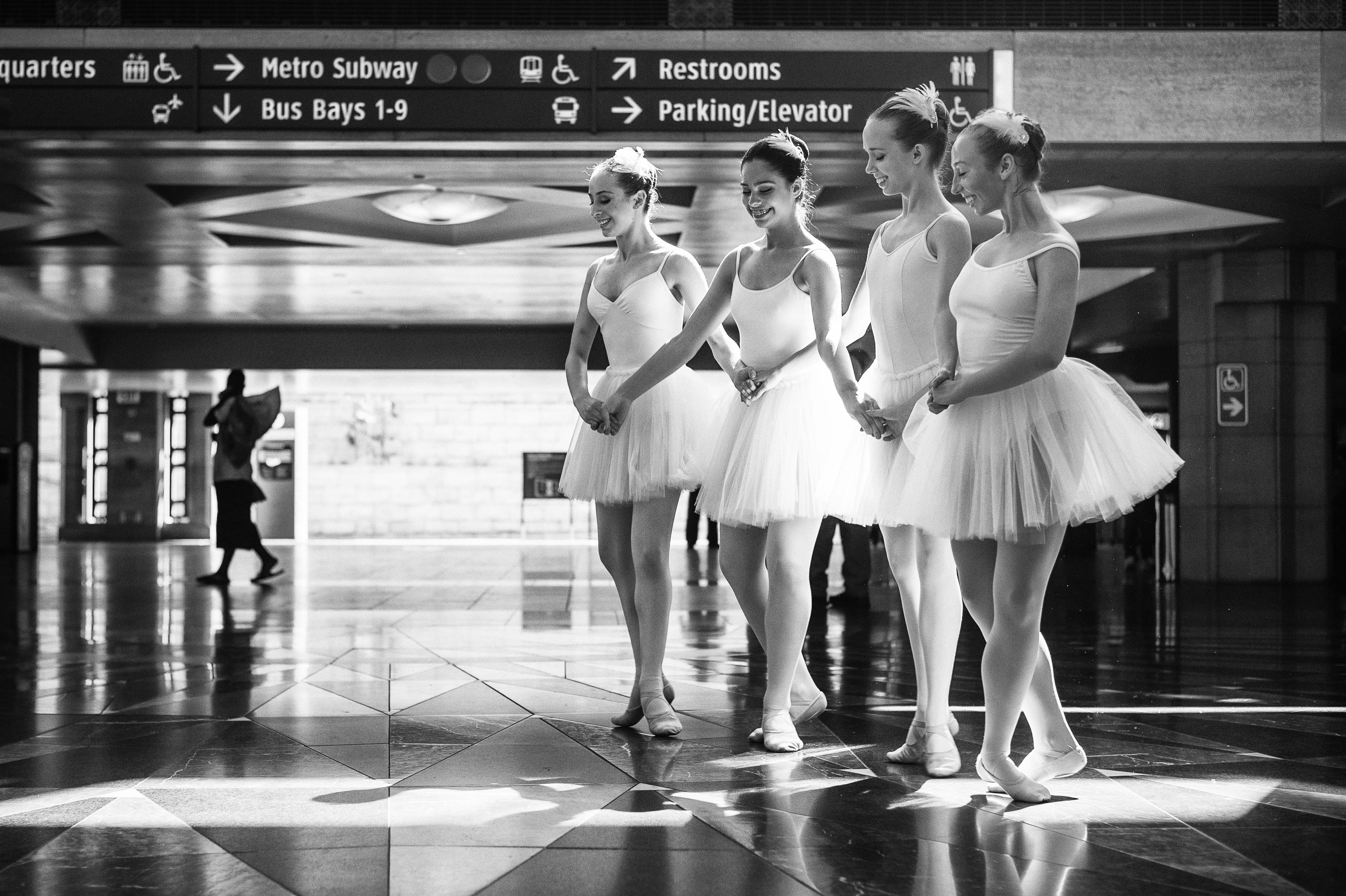 Metro is running a nice promotion with the Music Center -- if you Go Metro with a TAP card, you can save 20 percent on The Australian Ballet's performance of Swan Lake at the Music Center Oct. 9 to 12. As part of the promotion, four members of the XX performed at Union Station last week. The above photo was taken in the East Portal with an assistance from some great light filtered through the glass ceiling. I'll post some more pics soon.  Photo by Steve Hymon/Metro.