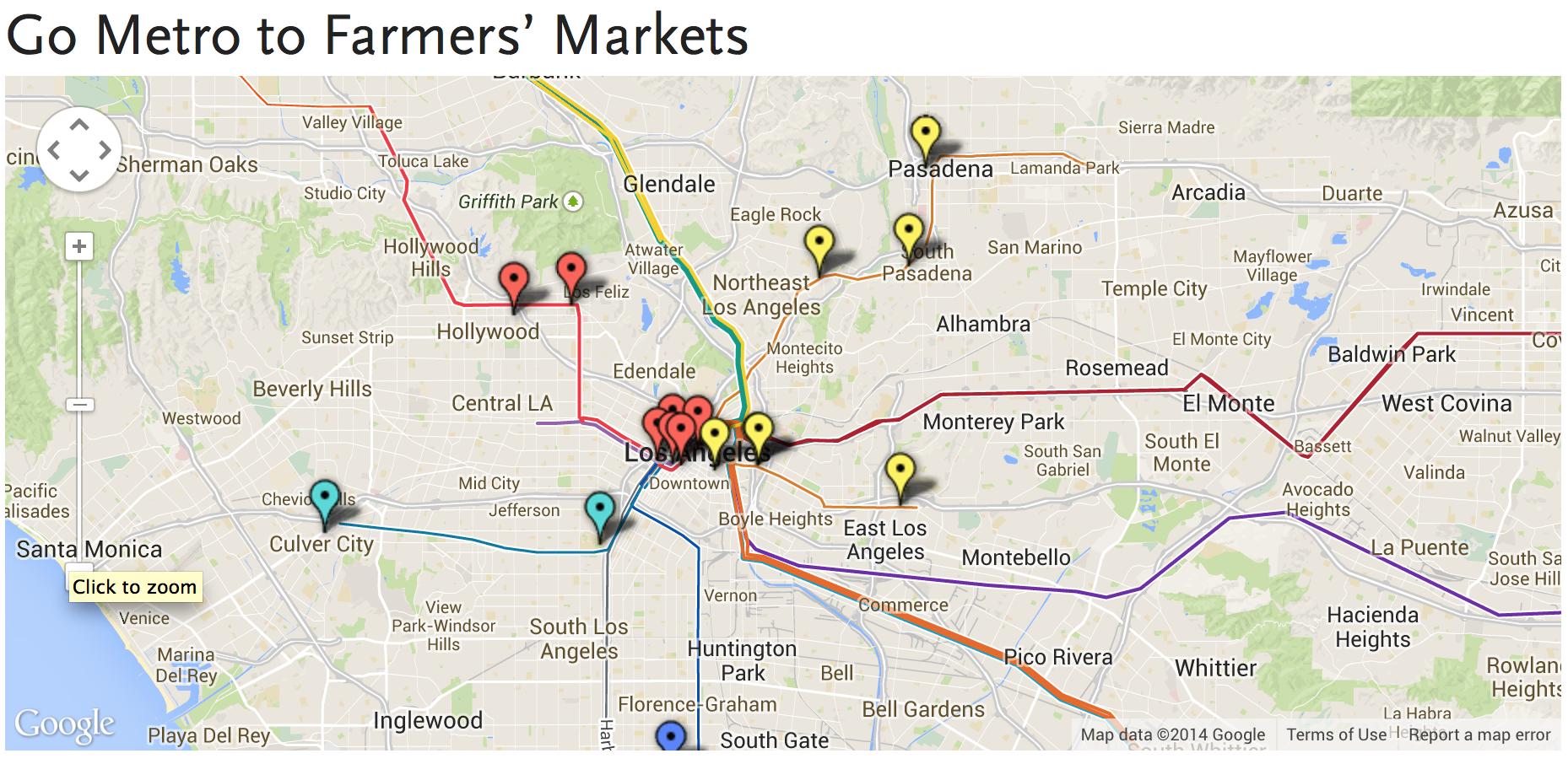 farmers' market map