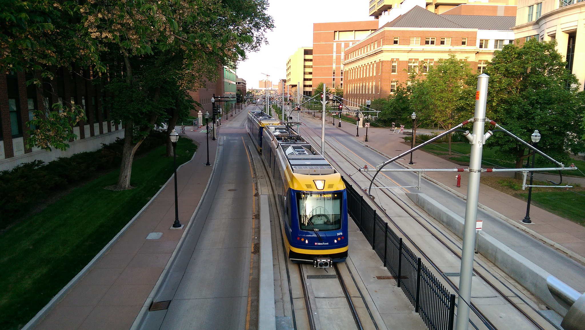 A Green Line train during testing earlier this year. Photo by Michael Green via Flickr creative commons.
