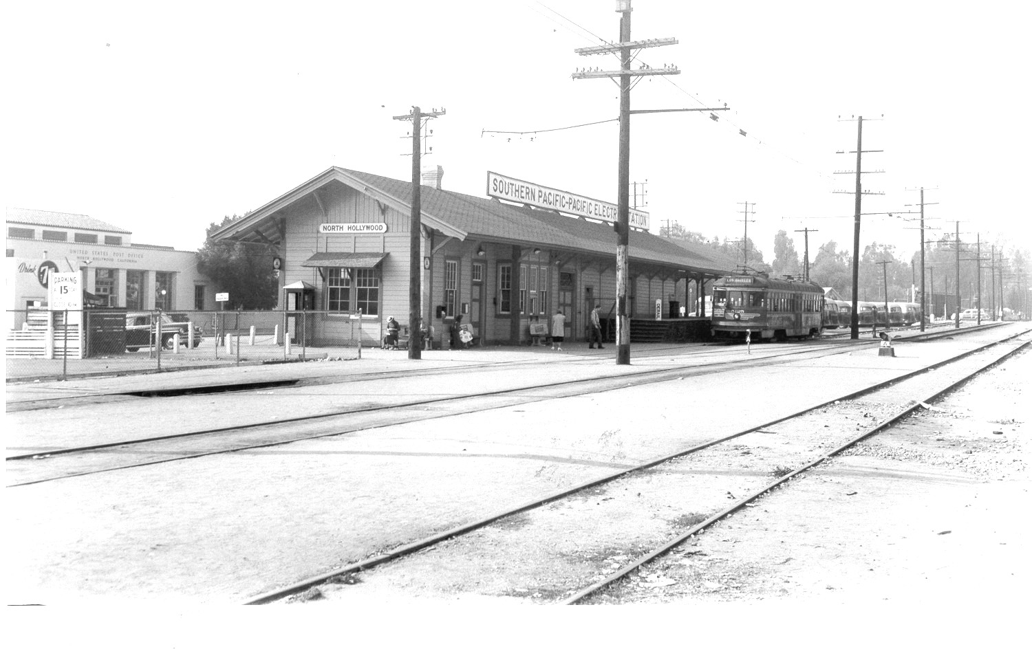 Pacific Electric North Hollywood Station 1950-
