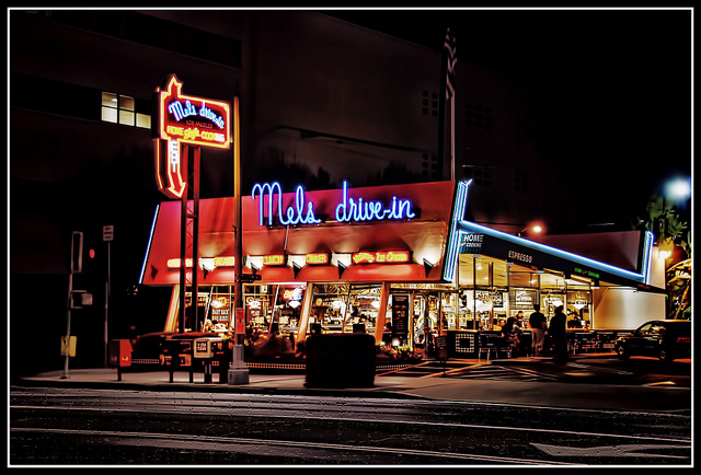 Mel's Drive-in on Ventura Boulevard. Photo by Chris Yarzab via Flickr/CC.