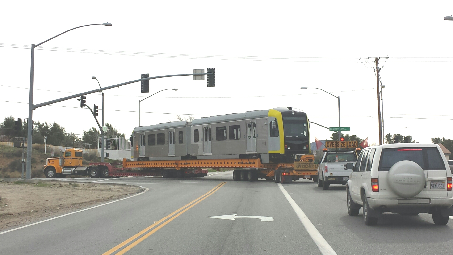 Palmdale Tranporting Rail Car