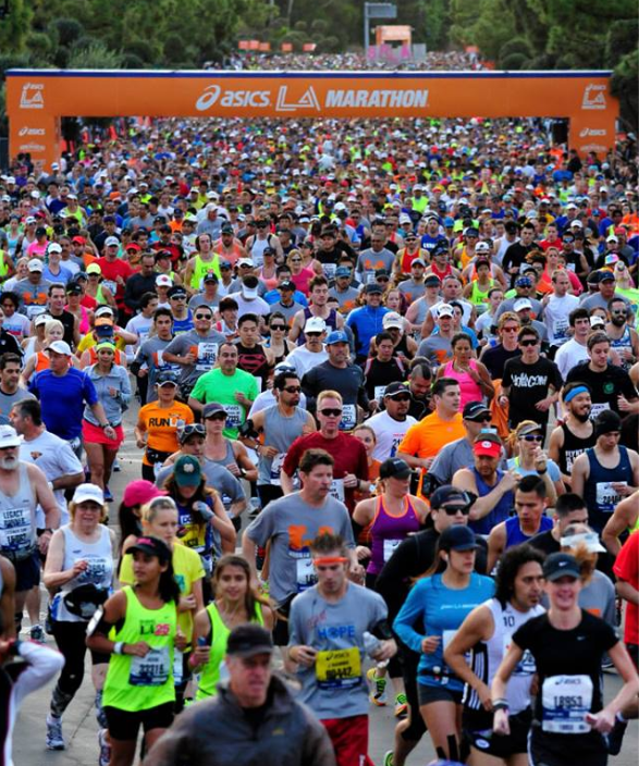 Photo of Over 20,000 runners via LA Marathon Official Facebook Page