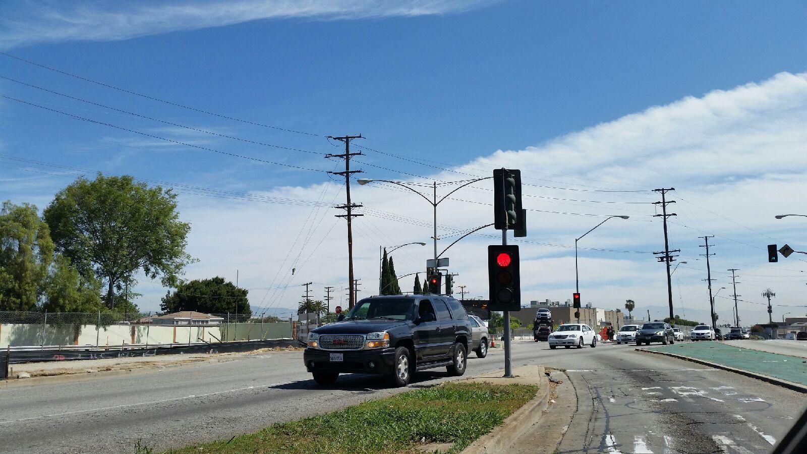 Redondo Boulevard will be permanently close at Florence Avenue for construction of the Crenshaw/LAX light rail line. Jose Ubaldo/Metro.