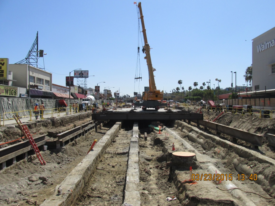 A view of work along Crenshaw Boulevard. Photo: Metro.