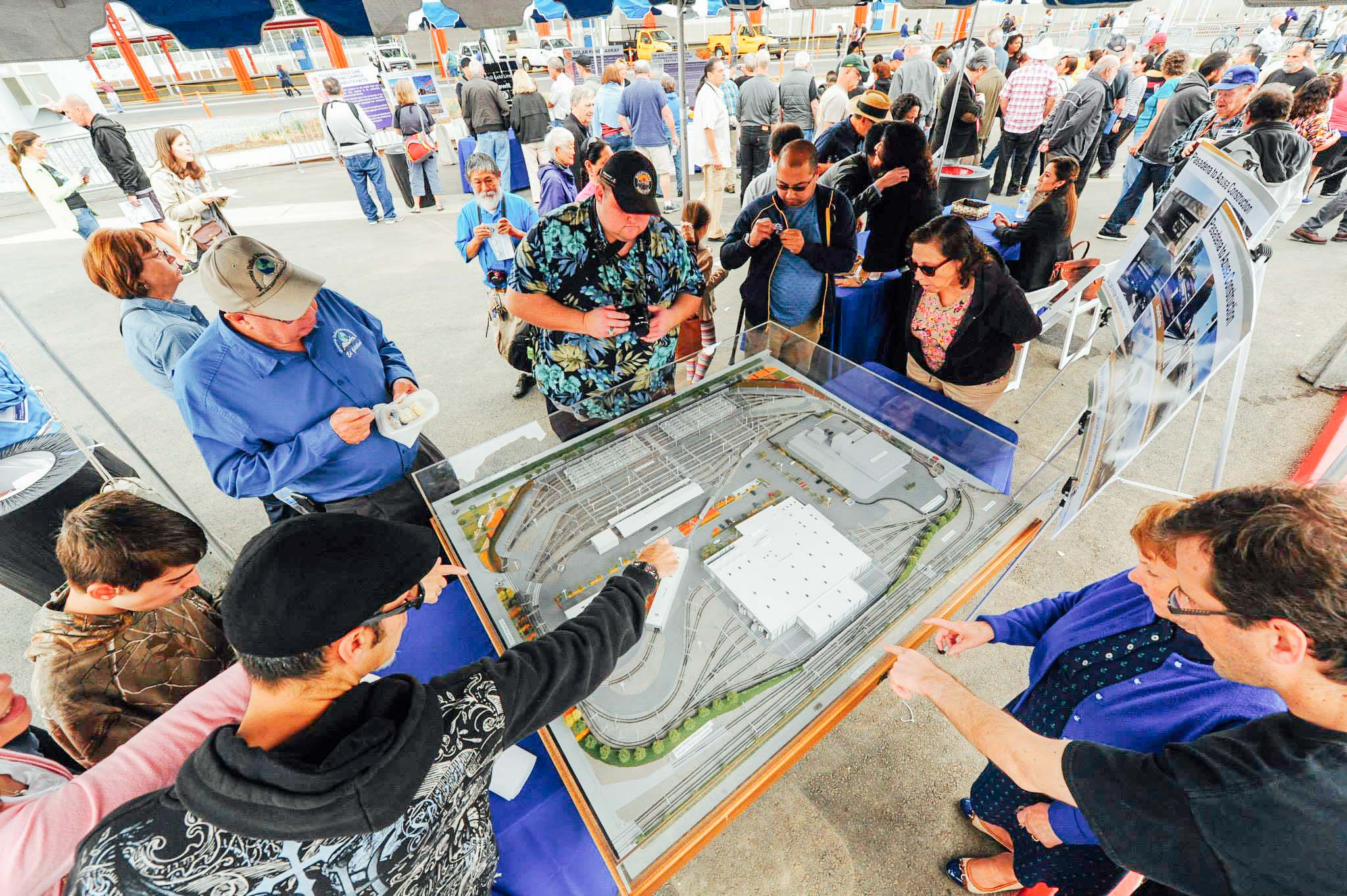 ART OF TRANSIT: Taxpayers get to see what they paid for Saturday at the open house for the newly completed Foothill Gold Line Operations Campus in Monrovia. Click the pic to see many more photos!