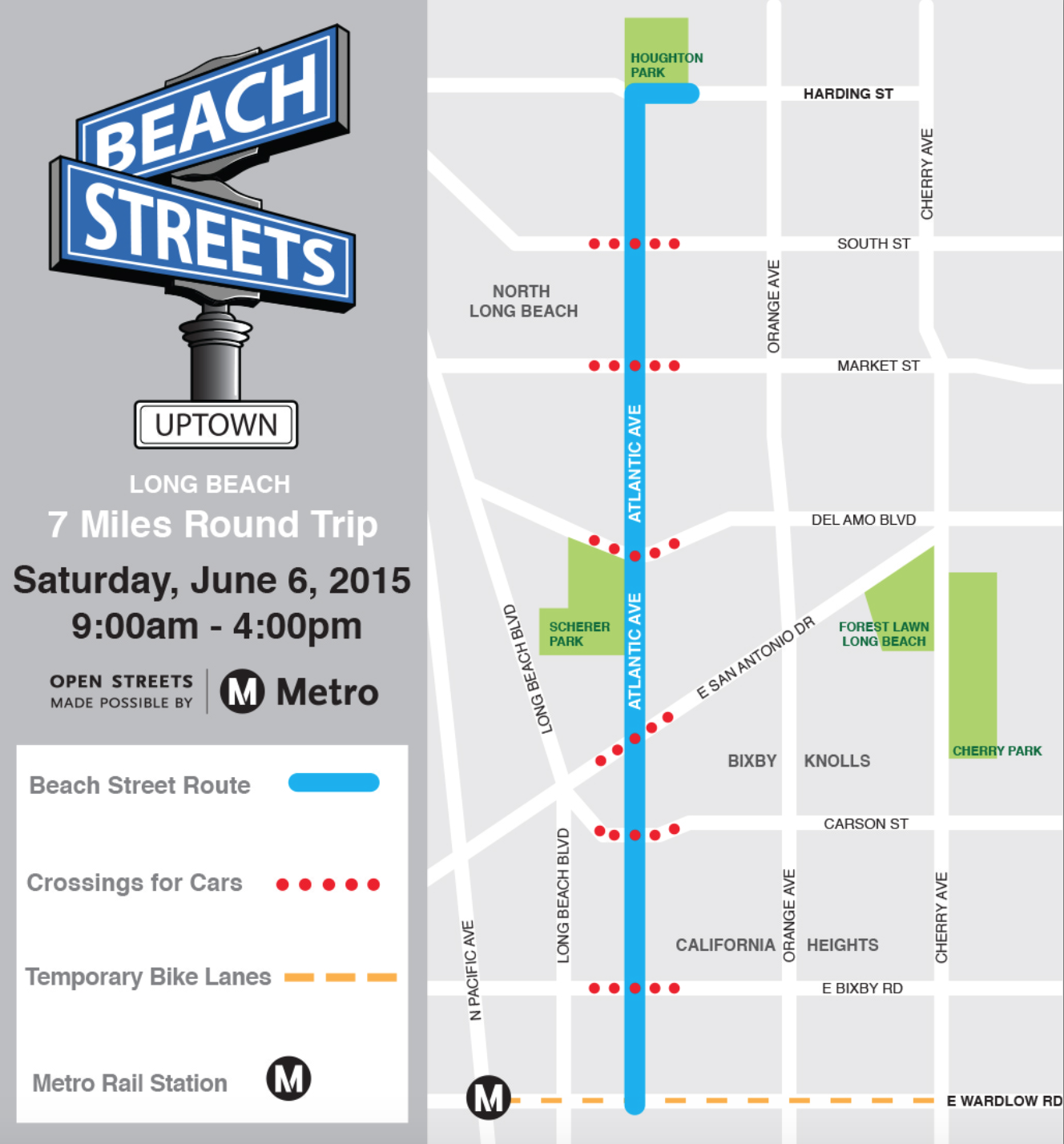 long beach open streets map