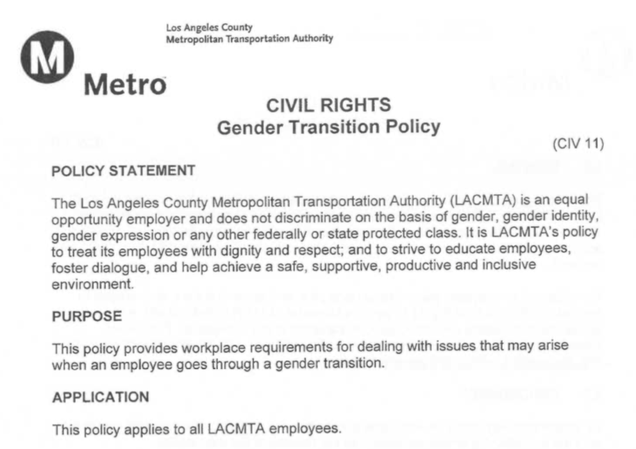 transition policy memo