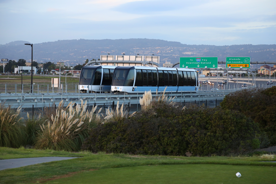 The people mover that connects Oakland's airport to the regional BART rail system. Photo: BART.