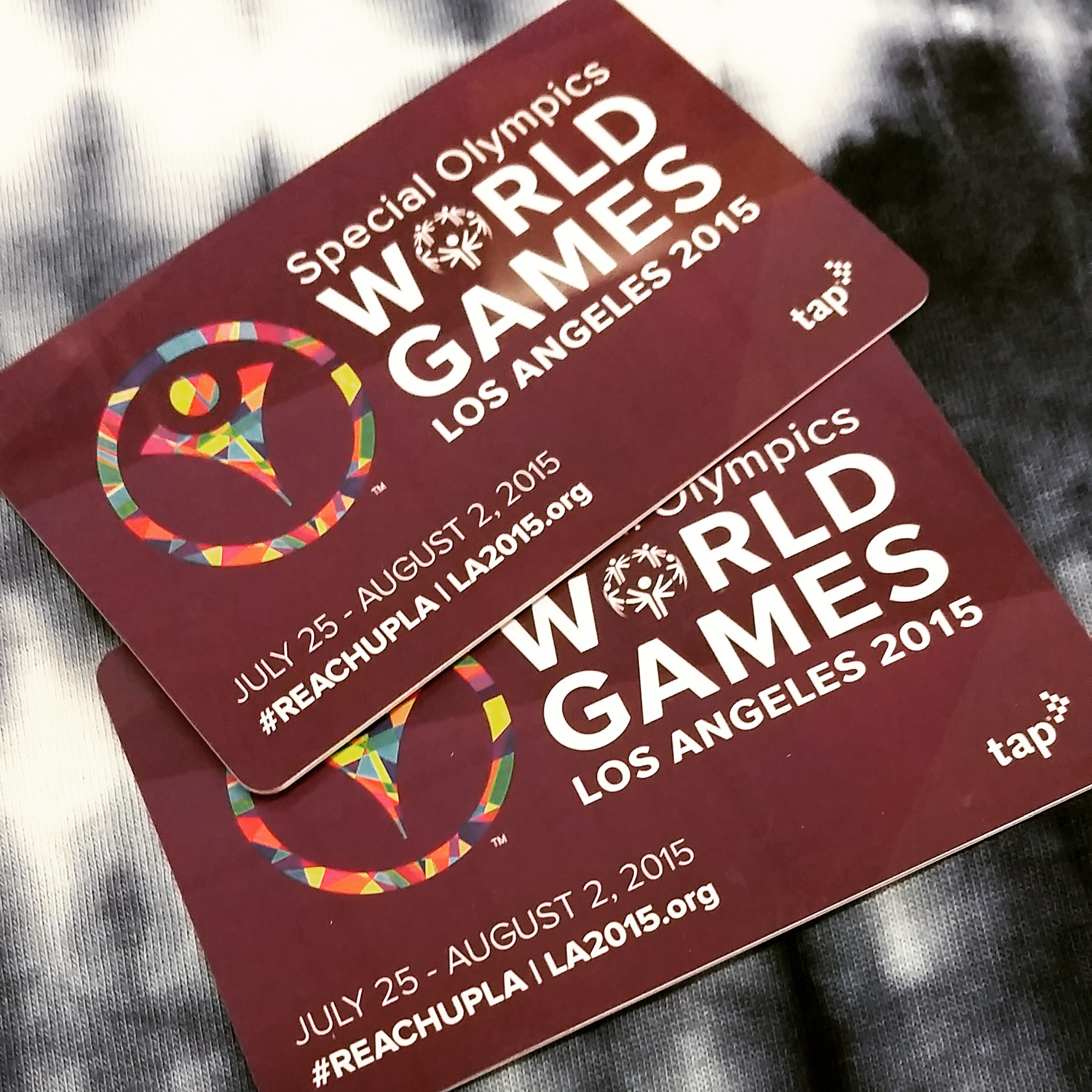 Special Olympics World Games limited edition TAP cards.