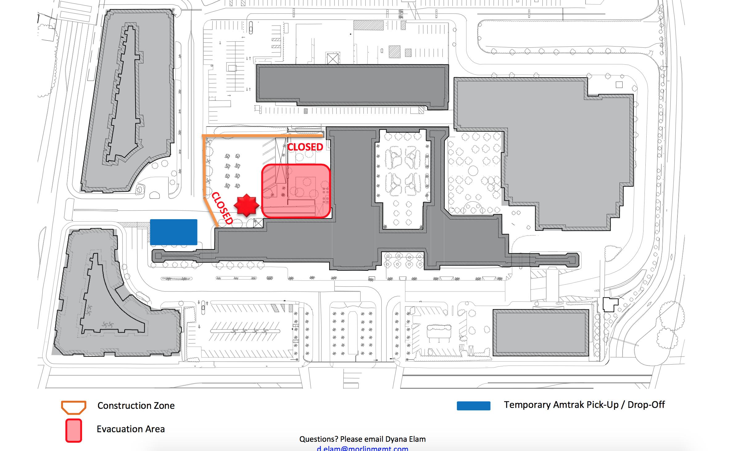 amtrak bus union station closure map