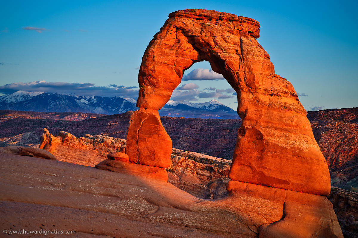 One of the best things about Delicate Arch: you have to get out of your car and walk to see it close up. Photo by Howard Ignatius, via Flickr creative commons.