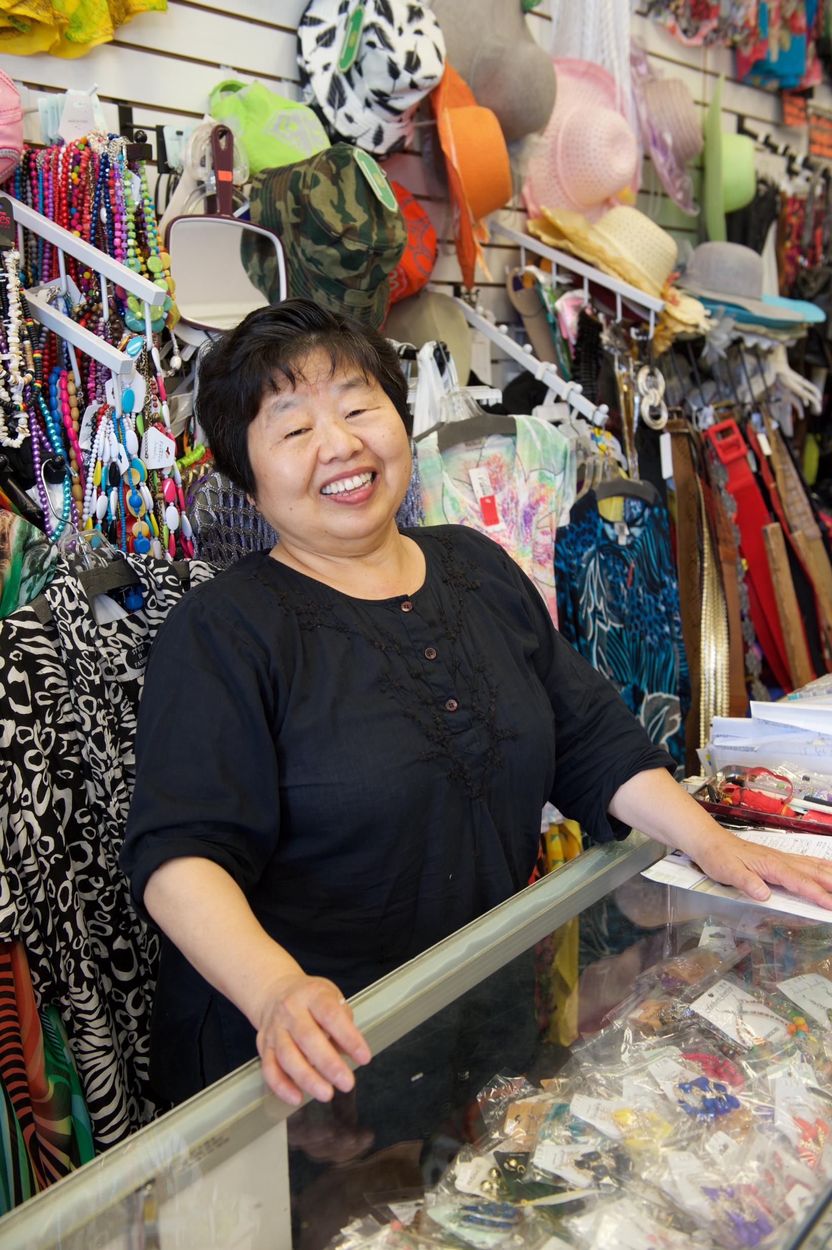 Eunice Pae, owner of Sense Fashion. Photo by Gary Leonard/Metro.