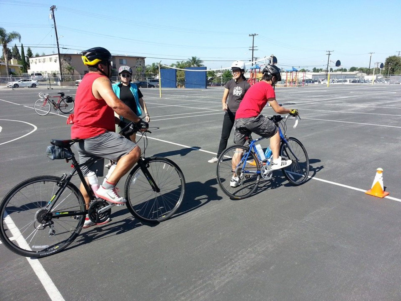 Bike SGV teaches real-world bicycle safety at recent Metro-funded safety class.