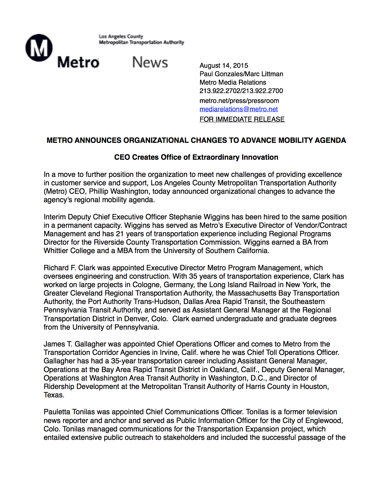 Metro ReorganizationRev2