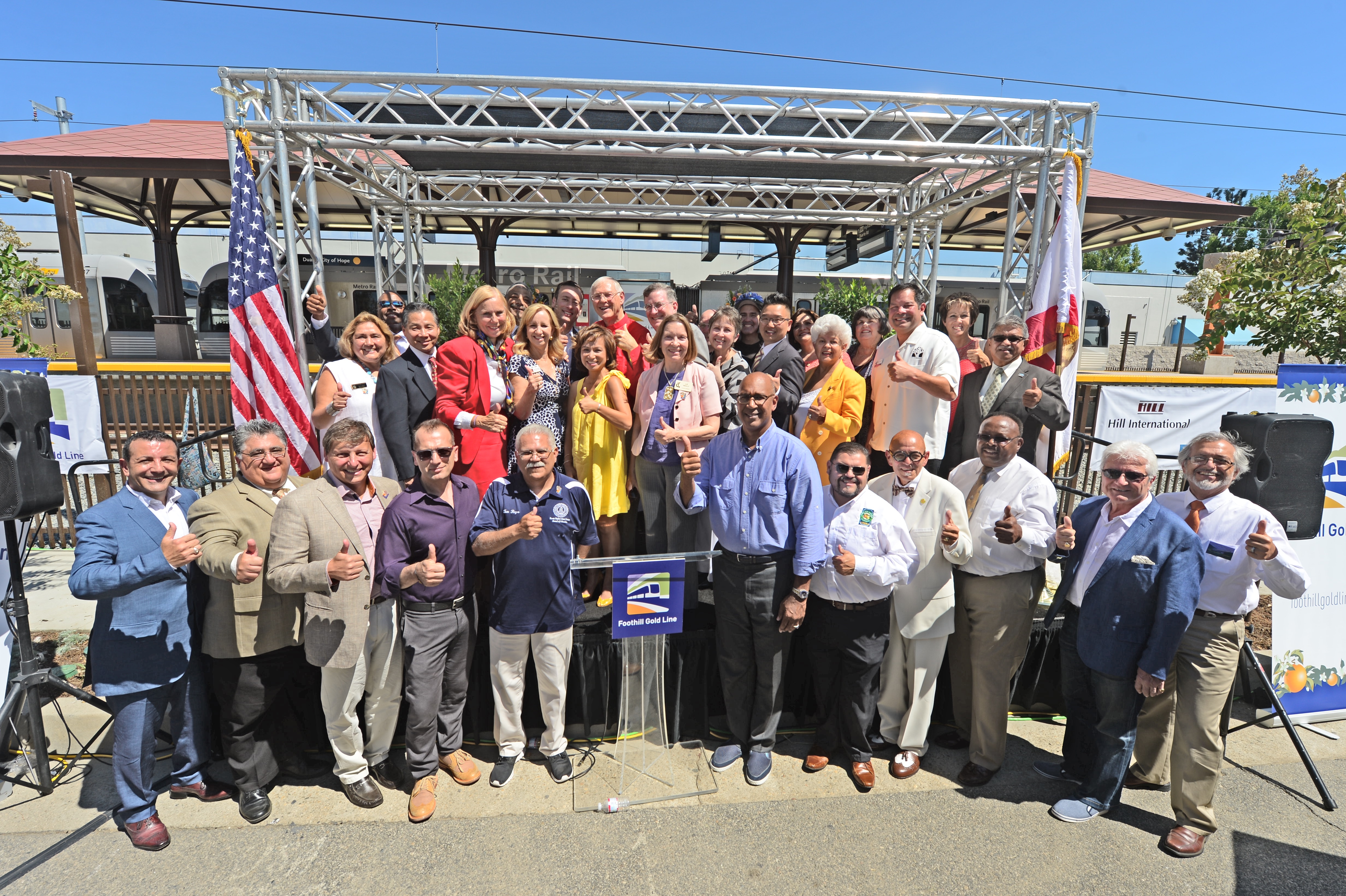 City officials and community members at Saturday's ceremony. Photo: Gold Line Foothill Extension Construction Authority.