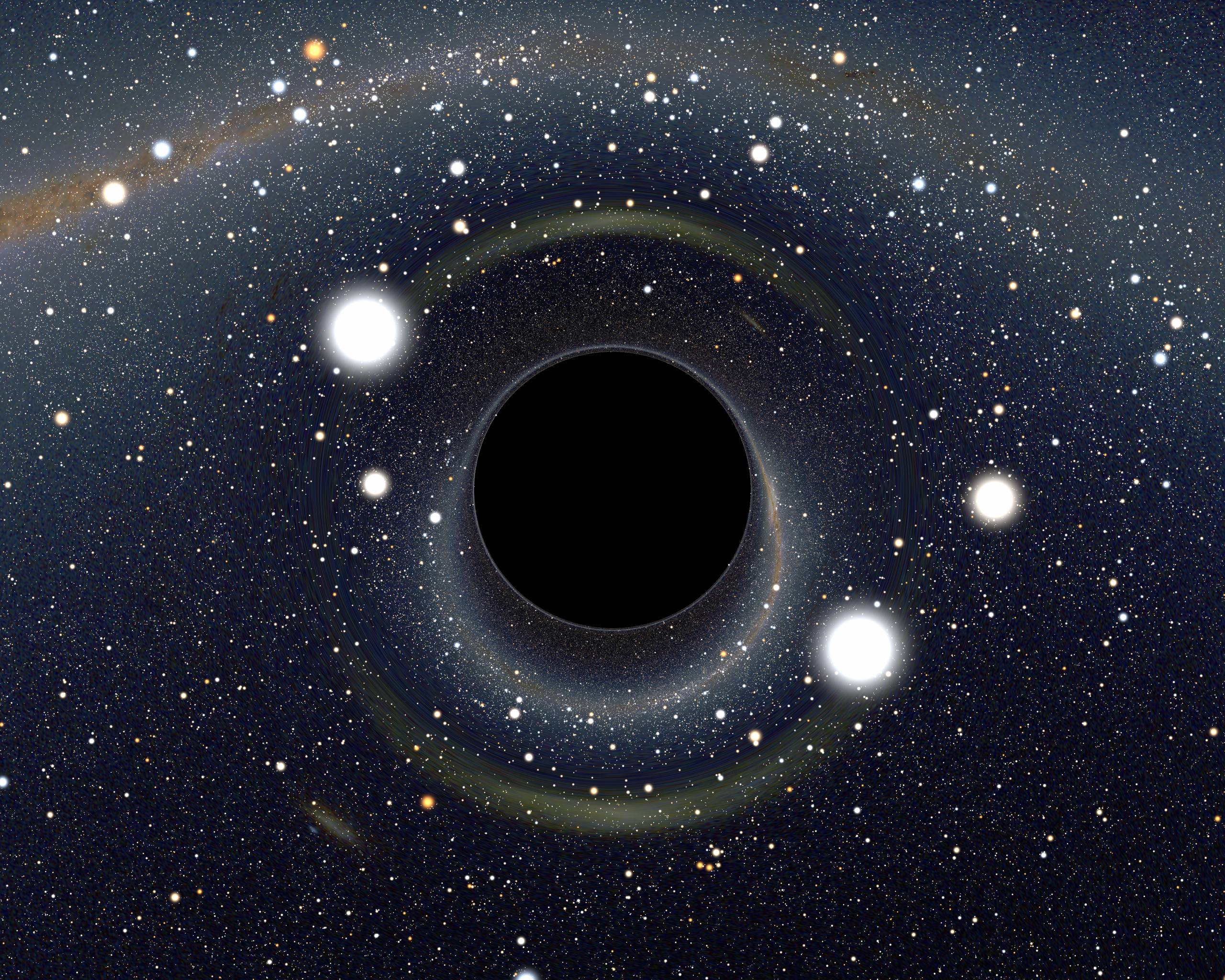 Your tax dollars at work: rendering of a possible black hole street widener. Credit: NASA