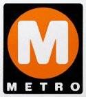 Metro's former logo.