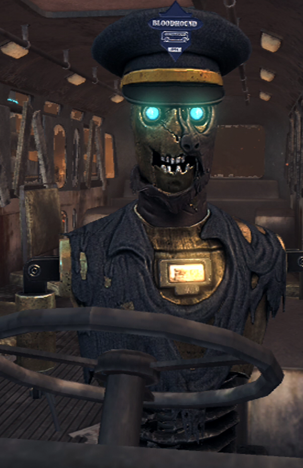 Would you trust this robot bus operator -- from Call of Duty -- to sell you a day pass?
