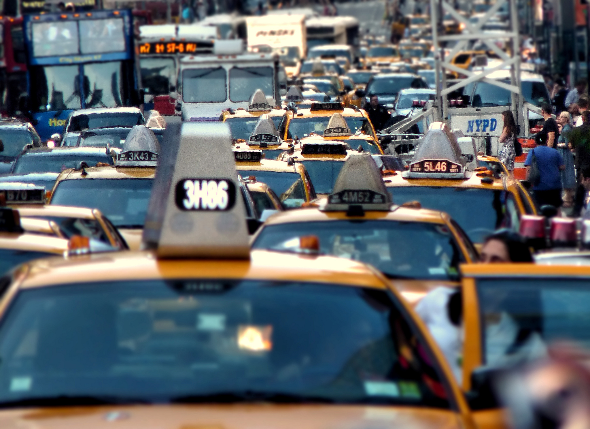New York: a city that ought to know about traffic! Photo by BK, via Flickr creative commons.